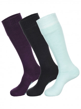 Womens Pro Tech 3pk Socks Blue