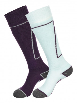 Womens Pro 2pk Socks Purple