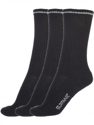 Mens Aerotec Sport Ankle Sock 3pk Black
