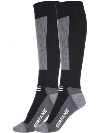 Mens Endurance Merino 2 Pack Sock Black