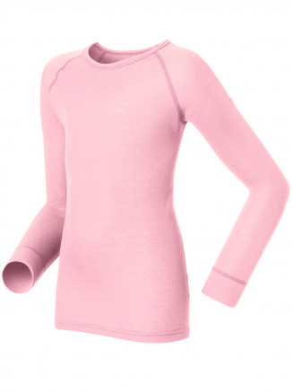 Kids Base Layer Warm Long Sleeve Crew Neck Pink